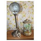 2 VINTAGE DESK LAMPS