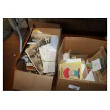 2 BOXES OF VINTAGE LETTERS, PHOTOS & POSTCARDS