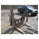 QUICK ATTACHMENT  FORKS WITH HYDRAULIC GRAPPLE