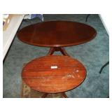 "2 VINTAGE TABLES, SMALL OVAL27""X19""17"" SURFACE DMG"