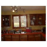 KITCHEN LOT, MICROWAVE, COFFEE MAKER, STOOL,
