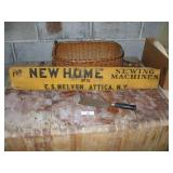 SIGN - NEWHOUSE SEWING SIGN / WOODEN