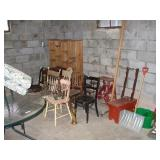 CONTENTS OF THE ROOM, PATIO TABLE,CHAIRS,CUSTONS