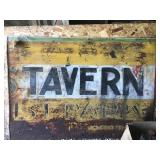 TAVERN SIGN IN SHED ... OLD