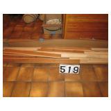 Box of oak hardwood flooring