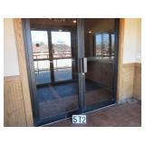 double glass commercial door