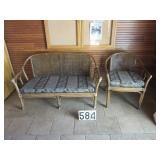 Porch love seat & chair