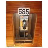 Vintage coin operated phone
