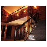 Homemade wrought iron handrail