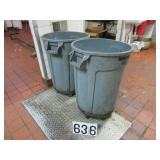 2 Brute trash cans