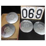 4 Volkswagen chrome hubcaps