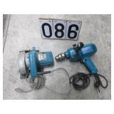2 Makita power tools
