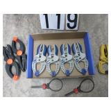 Group of hand clamps