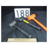 3 rubber mallets / dead blower hammers