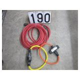 Heavy duty extension cords & 2 plugs