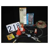 Transfer pump, funnels, hose, etc.