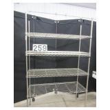 "48"" Shelftech metal rack"