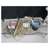 Block & tackle, horse related items