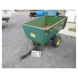 John Deere tow behind lawn cart