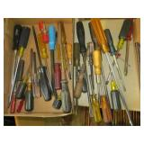 Group of Assorted Screw Drivers