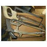 Box of Hack Saws and Meat Saw