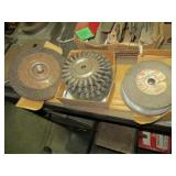 Grinding Wheels and Assorted Wire brushes