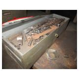 Metal Tool Box With Tools