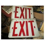 2 Lighted Exit Signs