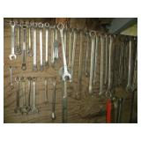 Assortment of Wrenches Hung Vertically
