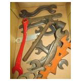 Box of Antique Wrenches