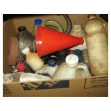 box of assorted Auto fluids