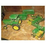 Group of John Deere Ertl Farm Toys