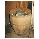 Large Barrel full of Canning Jar Parts