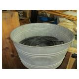 Galvanized Washtub with coax Cable