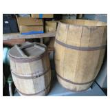 Pair of Old Wooden Barrels