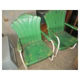 2 Metal Lawn Chairs