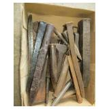 Box of Antique Punches & chisels