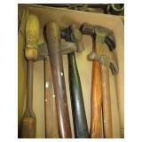 Box of Antique Hammers