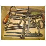 Box w/Antique Tools