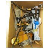 Box of Assorted Hangers & Brackets.