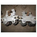 2 Aluminum Gantry Rollers
