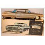 """1959 Bandai Japan 11"""" Tin Friction #781 Cadillac"""