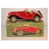 "c1955 AHI Japan 8"" Tin Friction MG in Maroon"