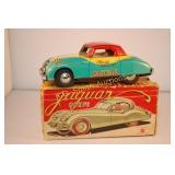 """1956 Bandai Japan 6"""" Tin Litho Friction Jaguar XK"""