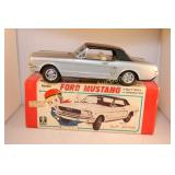 "1965 Bandai Japan 11"" Tin Battery Op. Mustang HT"