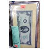 +USA Two Dollar Bicentennial Commemorative Bill