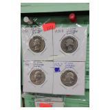 (4) Silver Washington Quarters