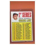 1967T #103 Mickey Mantle Checklist