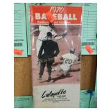 1970 Baseball handbook & schedules