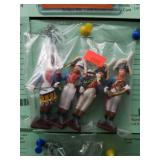 (4) Cast Metal Band Soldiers